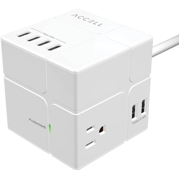 Power Cube with Surge Protection (White)