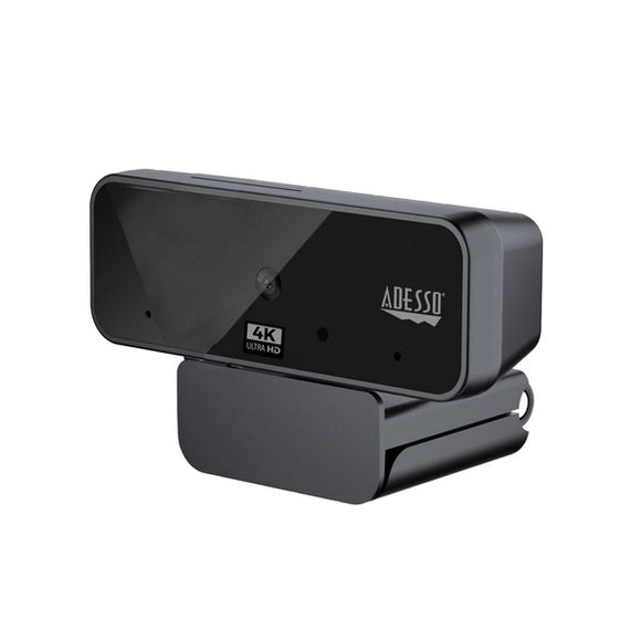 4K Ultra HD USB Webcam with Built-In Dual Microphone and Privacy Shutter
