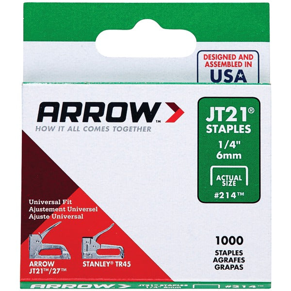 arrowr 21424 thin wire staples 1 000 pk 1 4