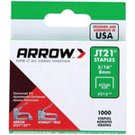 arrowr 21524 thin wire staples 1 000 pk 5 16