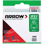 arrowr 27624 thin wire staples 1 000 pk 3 8