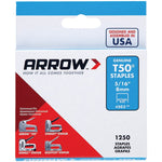 arrowr 50524 t50r staples 1 250 pk 5 16