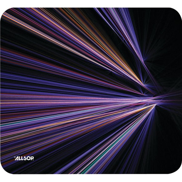 allsoptm 30600 mouse pad tech purple stripes