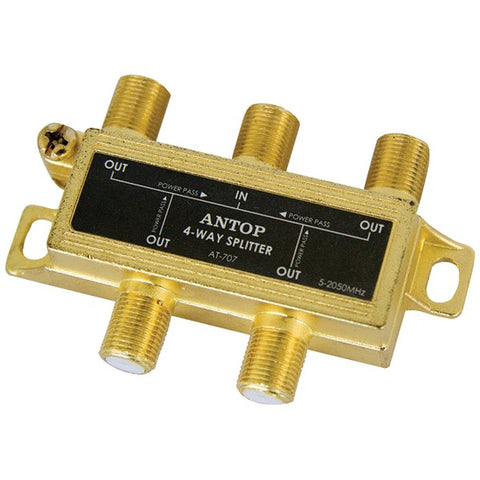 ANTOP(R) Antenna Inc. AT-707 4-Way 2GHz Low-Loss Coaxial Splitter