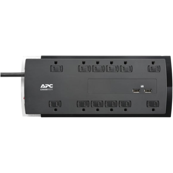 apc p12u2 12 outlet surgearrest performance series surge protector with 2 usb ports 6ft cord