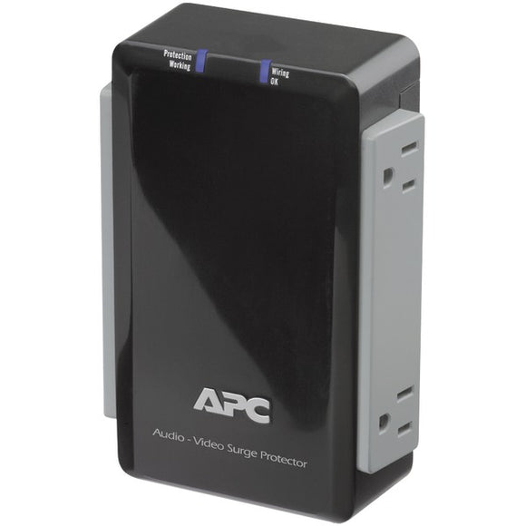 apc p4v 4 outlet wall mount surge protector with coaxial protection