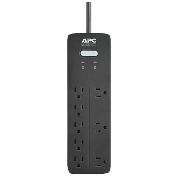 apc ph8 8 outlet surgearrest home office series surge protector 6ft cord