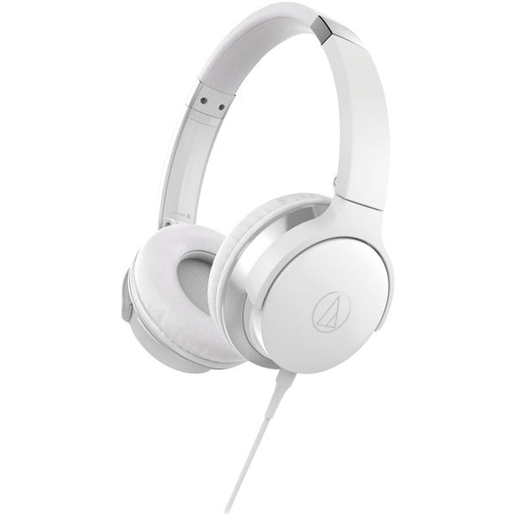 audio technica ath ar3iswh sonicfuel ath ar3is on ear headphones with microphone white