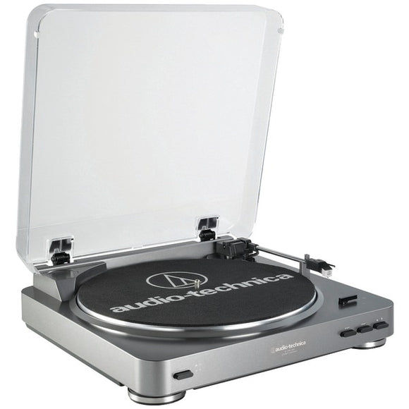 audio technica at lp60usb fully automatic belt drive usb analog stereo turntable silver
