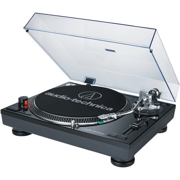 audio technica at lp120bk usb direct drive professional usb analog stereo turntable black