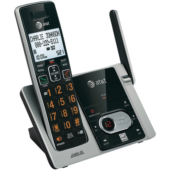 at t attcl82313 cordless answering system with caller id call waiting 3 handset system