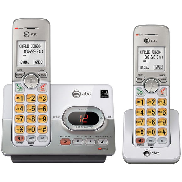 at t attel52203 dect 6 0 2 handset answering system with caller id call waiting