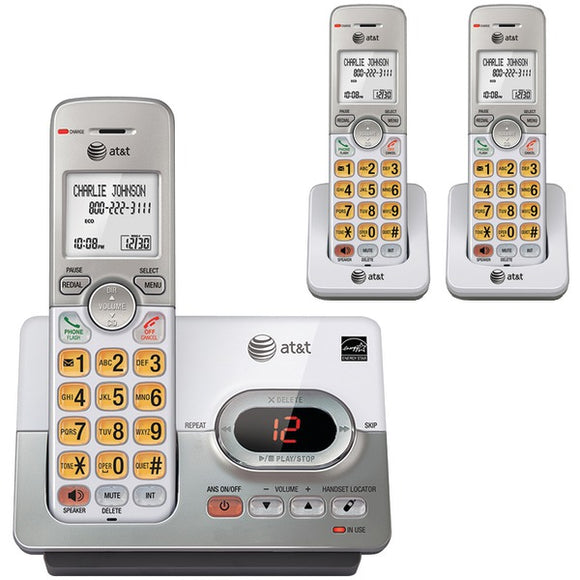 at t el52303 3 handset answering system with caller id call waiting
