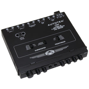 autotekr 7007 half din 4 band 2 way equalizer crossover