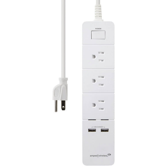 amped wirelessr awps248w 3 outlet wireless smart surge protector with 2 usb ports