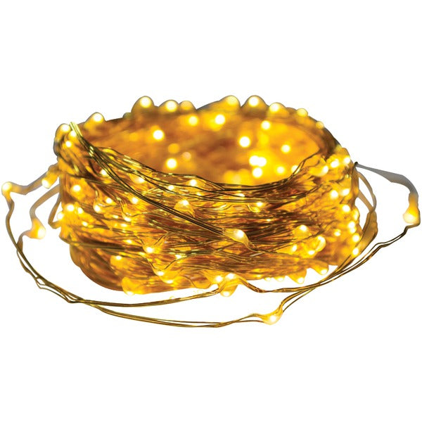 axistm 25016 metallic gold led micro dot string lights 65ft