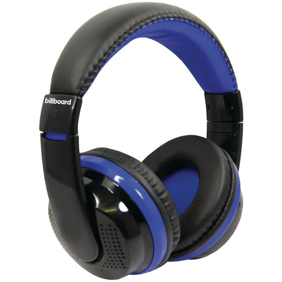 Billboard BB490 Bluetooth(R) Over-Ear Foldable Headphones with Microphone (Blue)