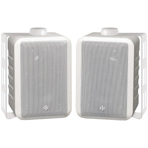 "BIC America RTRV44-2W 4"" RtR Series Indoor-Outdoor 3-Way Speakers (White)"
