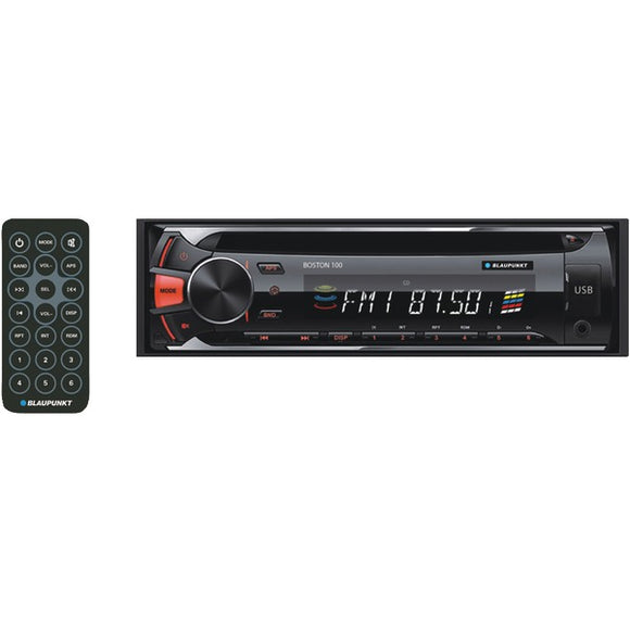 Blaupunkt(R) BOS100 BOSTON 100 Single-DIN In-Dash CD-MP3 Receiver