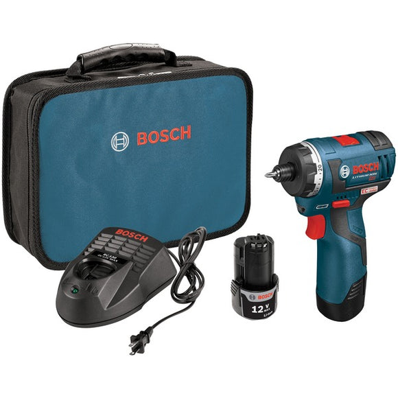Bosch PS22-02 12-Volt MAX EC Brushless 2-Speed Cordless Pocket Driver Kit