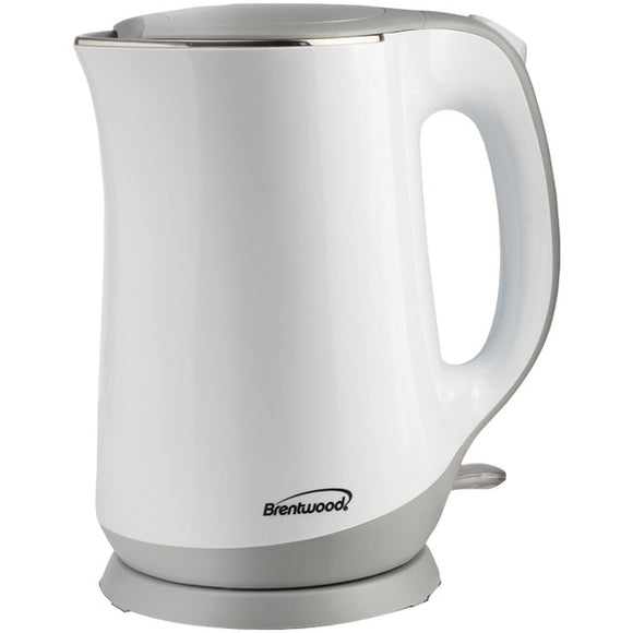Brentwood Appliances KT-2017W 1.7L Cool-Touch Electric Kettle