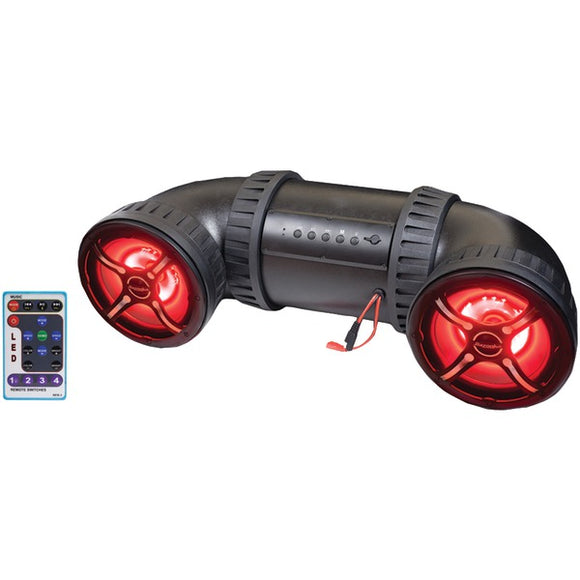 atv tube ut8200rl 450 watt bluetooth atv marine speaker system 8 with remote rgb leds
