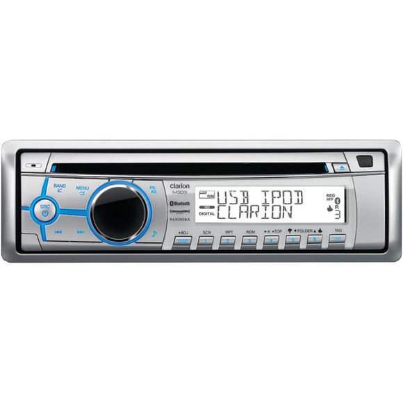 Clarion Clarion M303 Marine Single DIN In Dash CD USB Bluetooth Receiver with LCD Controller & SiriusXM Ready