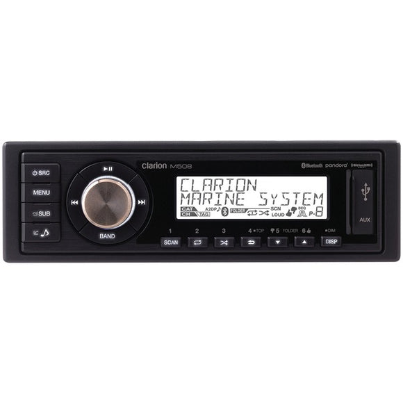 Clarion Clarion M508 Single DIN In Dash Marine Grade M508 Digital Media Receiver with Bluetooth