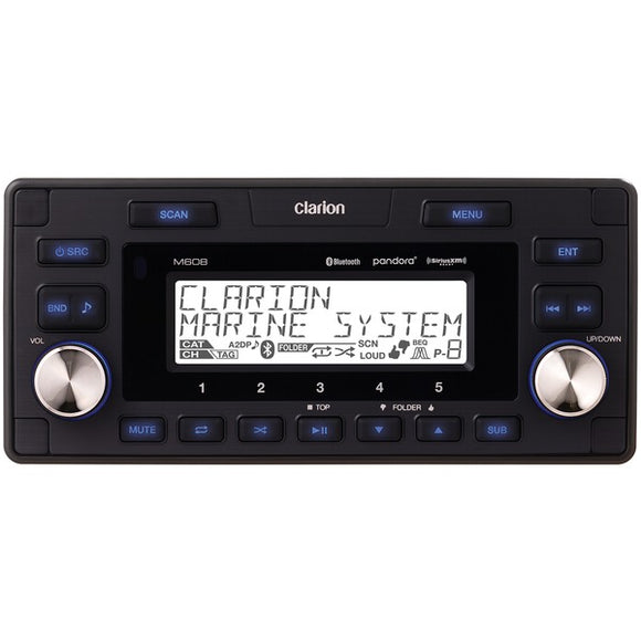 Clarion Clarion M608 1.8 DIN In Dash Marine Grade M608 Digital Media Receiver with Bluetooth