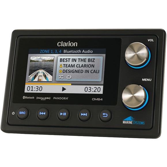 Clarion Clarion CMS4 Marine Black Box Digital Media Receiver with Bluetooth & Watertight Commander