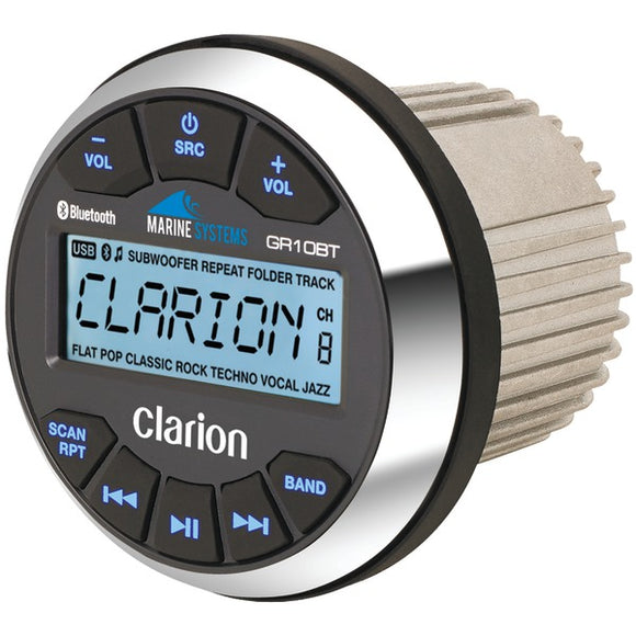 Clarion Clarion GR10BT Marine USB MP3 WMA Gauge Hole Receiver with Bluetooth