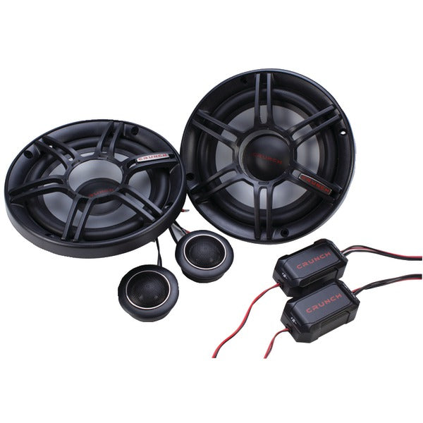"Crunch(r) Crunch(R) CS65C CS Series 6.5"" 300 Watt 2 Way Component Speaker System"
