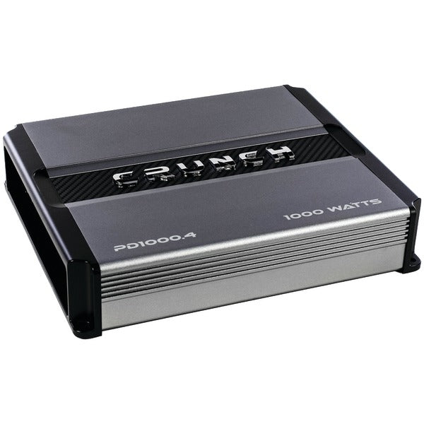 Crunch(r) Crunch(R) PD 1000.4 POWER DRIVE 4 Channel Pro Power Bridgeable Class AB Amp (1,000 Watts max)