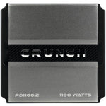 Crunch(r) Crunch(R) PD 1100.2 POWER DRIVE 2 Channel Bridgeable Class AB Amp (1,100 Watts max)