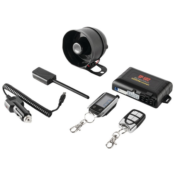Crimestopper CrimeStopper SP 502 Universal Deluxe 2 Way LCD Security & Remote Start Combo