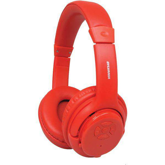 SYLVANIA(R) SBT235-RED Bluetooth(R) Wireless Headphones with Microphone (Red)