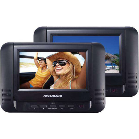 "SYLVANIA SDVD8791 7"" Dual Screen-Dual DVD Portable DVD Players"