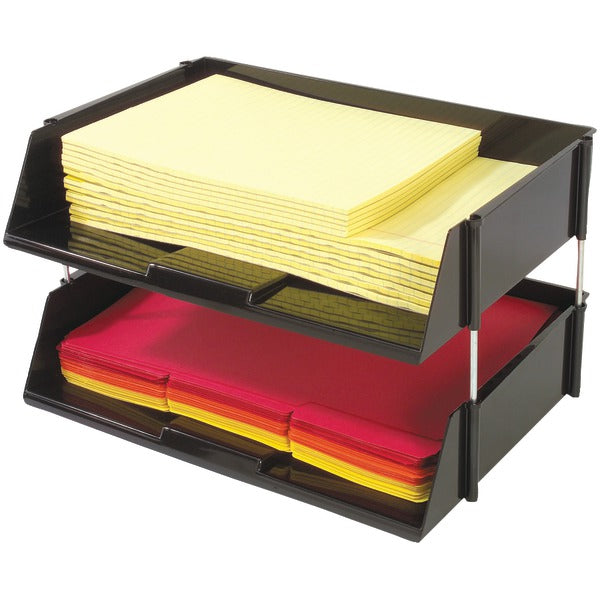 Deflecto(r) Deflecto(R) 582704 Industrial Tray(TM) Side Load Stacking Trays with Risers, 2 pk