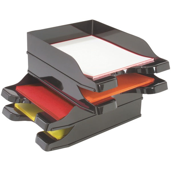 Deflecto(r) Deflecto(R) 63904 Docutray(R) Multidirectional Stacking Tray, 2 pk