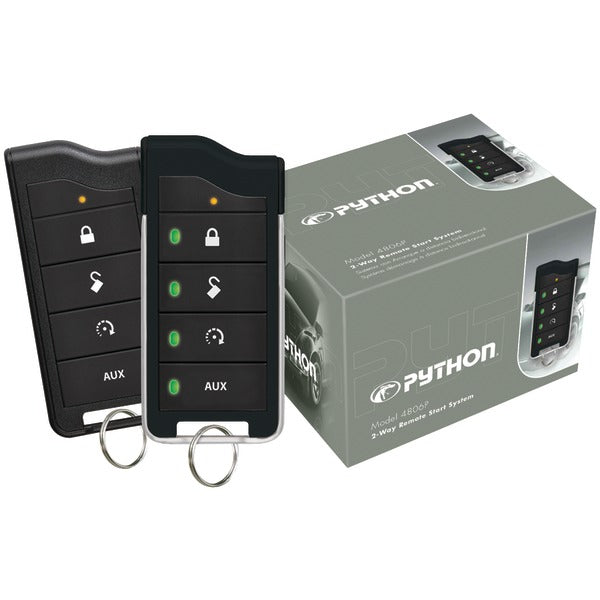 Python(r) Python(R) 4806P 4806P 2 Way LED Remote Start System with 1 Mile Range
