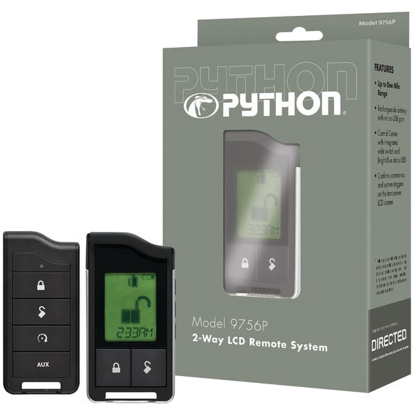 Python(r) Python(R) 9756P 9756P 2 Way LCD RF Remote & Antenna with 1 Mile Range