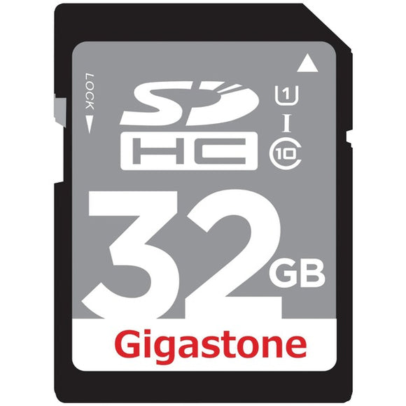 Gigastone(R) GS-SDHCU132G-R Class 10 UHS-1 Card (SDHC(TM); 32GB)