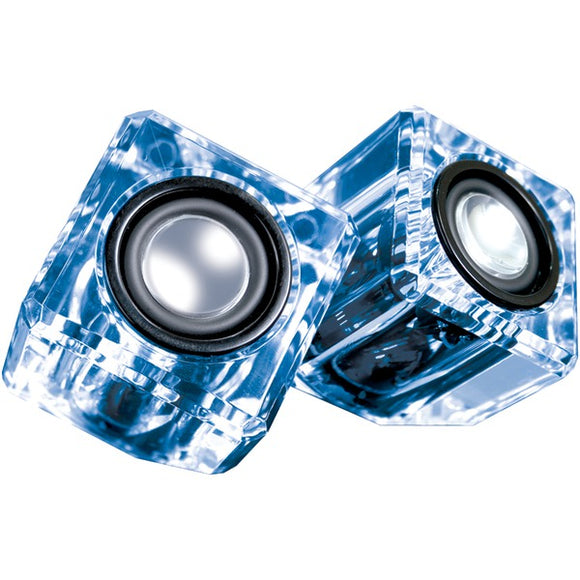 Dreamgear(r) dreamGEAR(R) DGUN 6827 Ice Crystal Clear Compact Speakers (Blue)