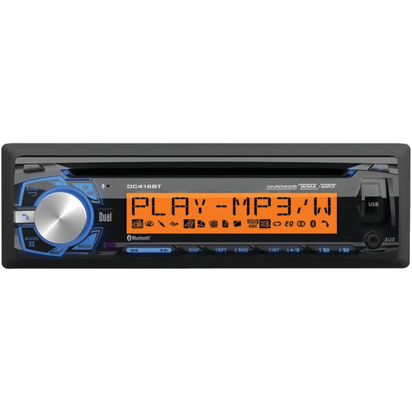 Dual Dual DC416BT Single DIN In Dash CD AM FM Receiver with Bluetooth