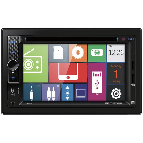 "Dual(r) Dual(R) DV604I 6.2"" Double DIN In Dash DVD Receiver with iPod(R) Control"
