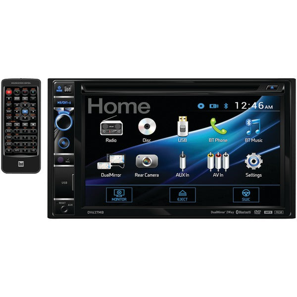 "Dual(r) Dual(R) DV637MB 6.2"" Double DIN In Dash DVD Receiver with Bluetooth(R) & HDMI(R) Input"