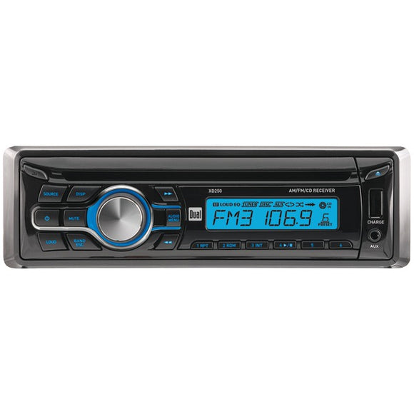 Dual(r) Dual(R) XD250 Single DIN In Dash CD AM FM Receiver