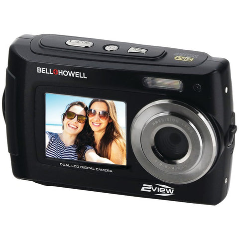 Bell+Howell(R) 2VIEW18-BK 2VIEW18 Dual-Screen Waterproof HD Camera (Black)