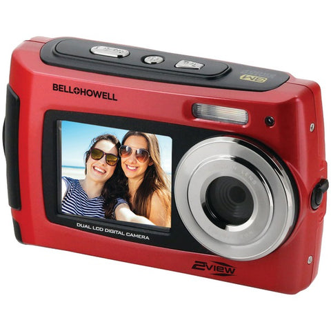 Bell+Howell(R) 2VIEW18-R 2VIEW18 Dual-Screen Waterproof HD Camera (Red)