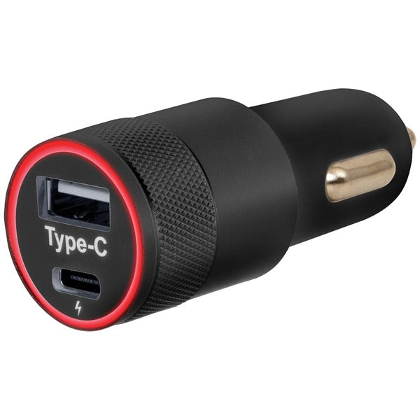 Helix ETHCCHGC Car Charger with USB-A and USB-C(TM) Ports